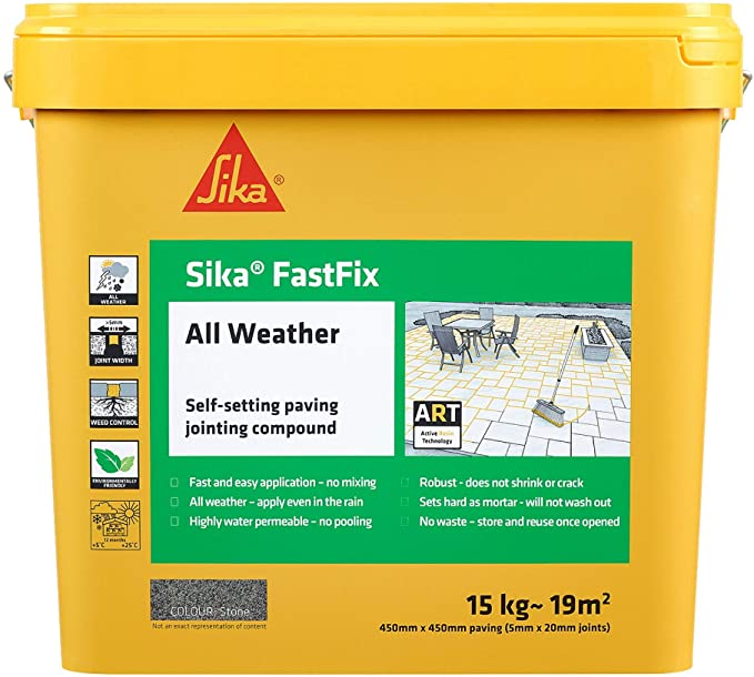 Sika Fastfix All Weather Paving Jointing Compound - Stone 15kg