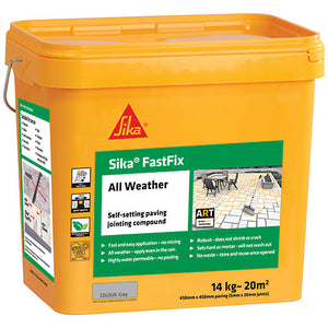 Sika Fastfix All Weather Paving Jointing Compound - Grey 14kg