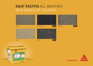 Sika Fastfix All Weather Paving Jointing Compound - Charcoal 15kg
