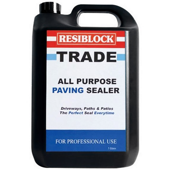 Resiblock Trade Clear Paving Sealer - Clear 5 Litre