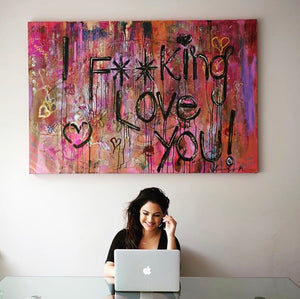 artbylrm.com | i fucking love you original canvas