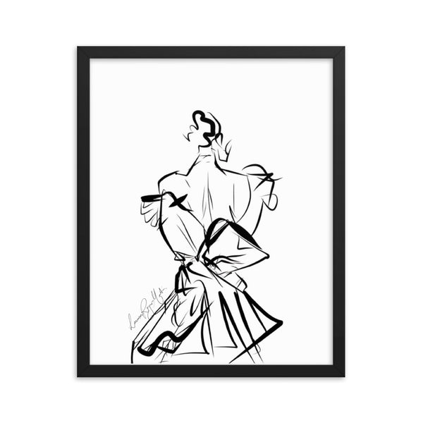 MISS DIOR: Wives Of Mayfair Framed print