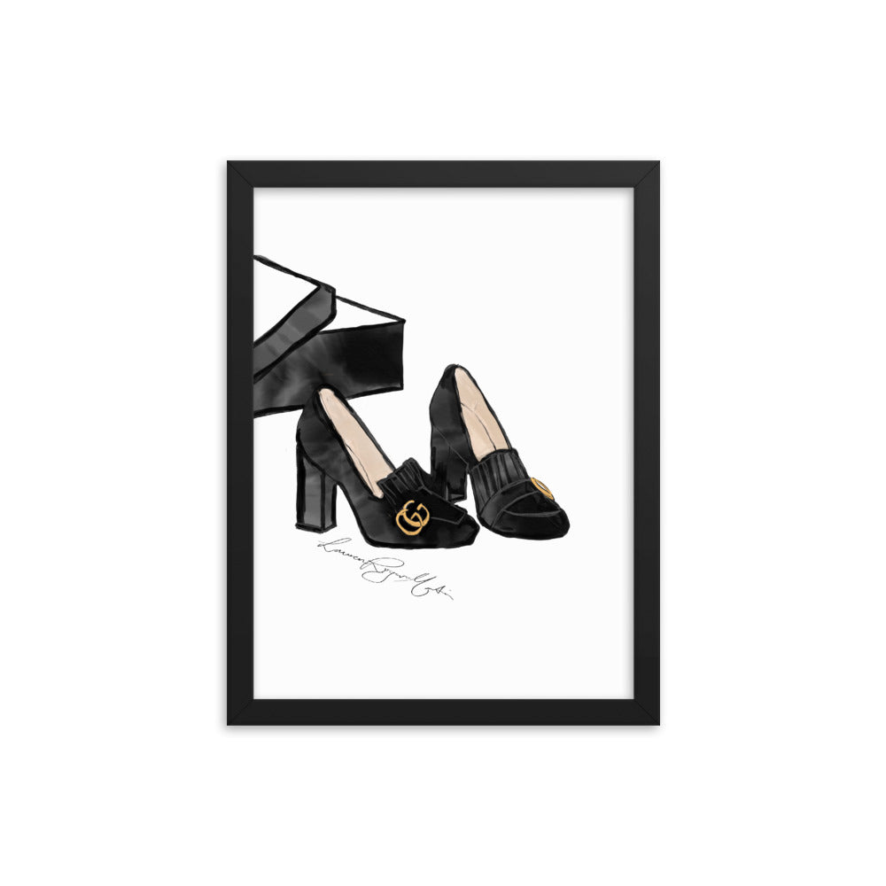 Gucci Shoes Framed Print
