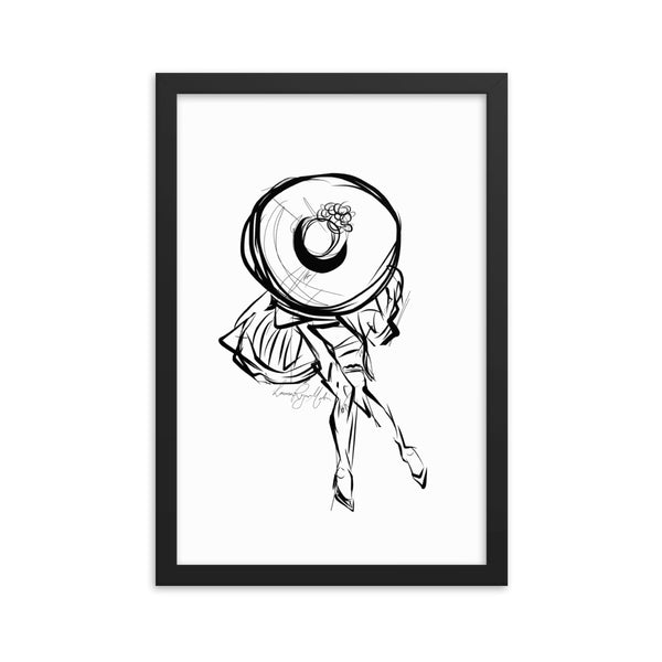 MISS DIOR: Dream a Little Dream of Me Framed Print