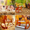 XL Wood Bird Rocking Horse: Chicken Perch, Chicken Toys for Coop, Chicken Toy Wood, Toys for Chicken Coop, Toys for Birds, Bird Perch Stand