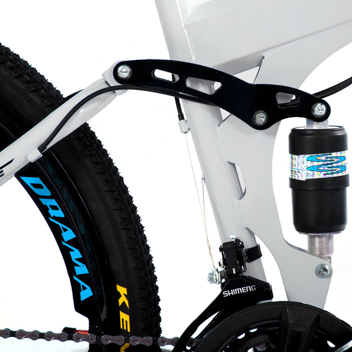 Novokart 'Wayfarer' Foldable Mountain Bike 3 Cutter Wheel, White