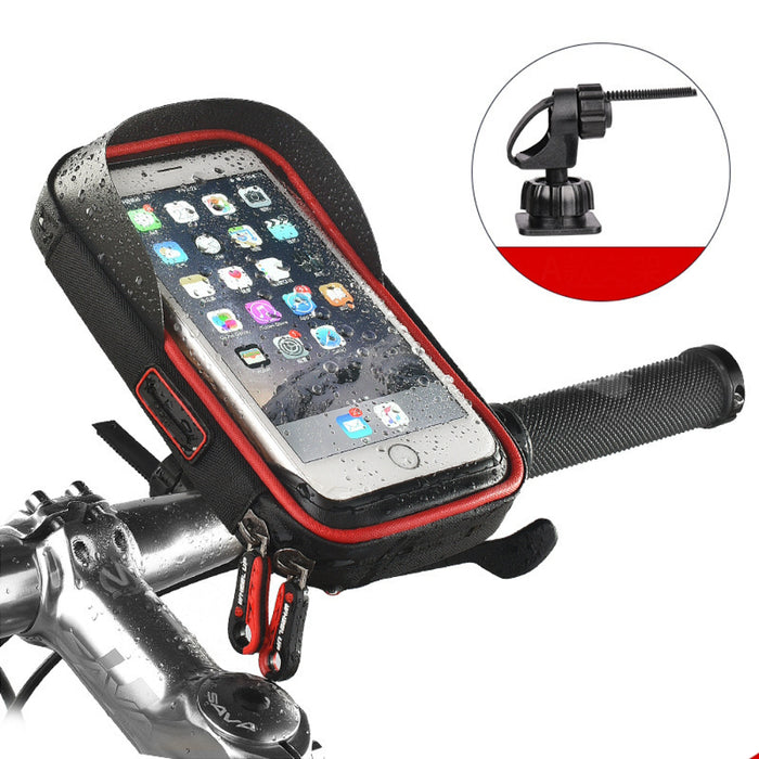 Bicycle phone holder waterproof bracket bag Bicycle bag cycling bike bag front bag navigation rack