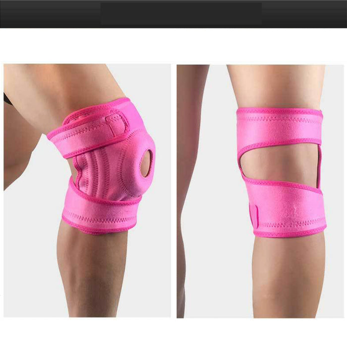 Sports Knee Protector spring anti-sprain patella with leg brace outdoor basketball football cycling weightlifting brace