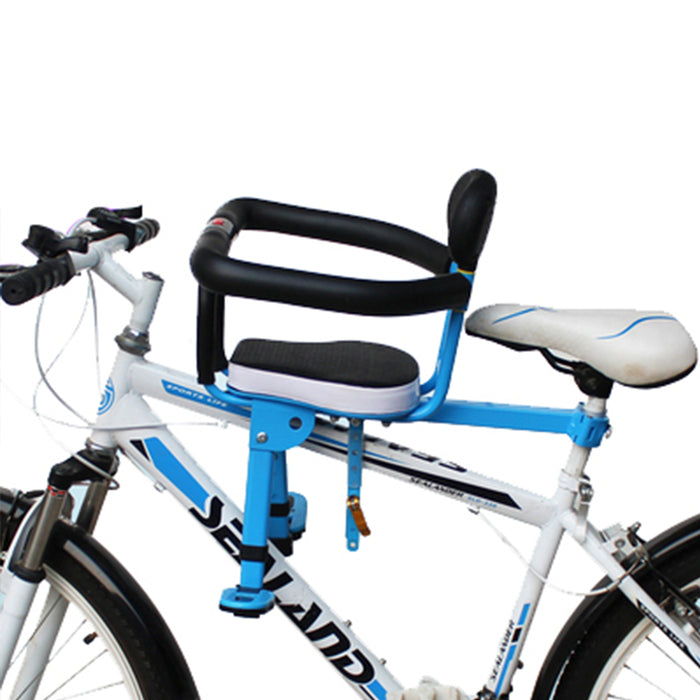 Kids Bike Seat Front, Adjustable & Foldable, Compatible with All Adult MTB
