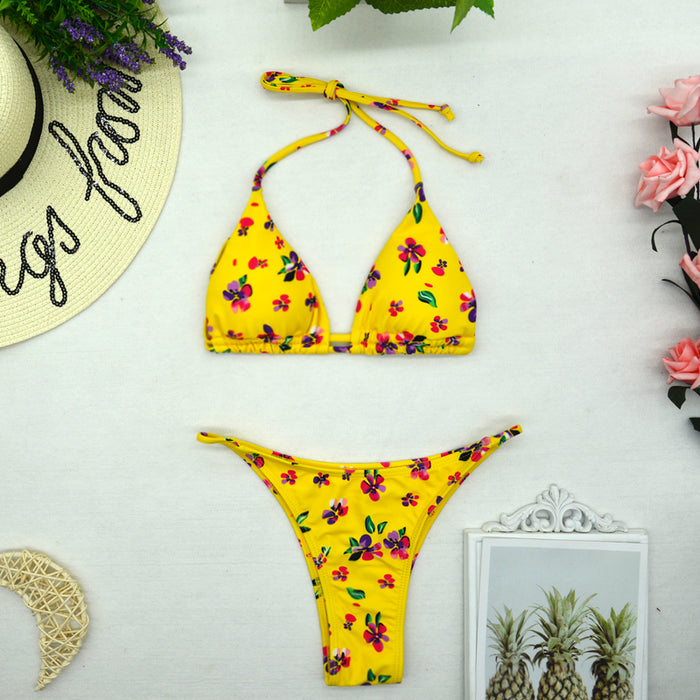 Women's Triangle Bikini Set Two Piece Swimming Costume