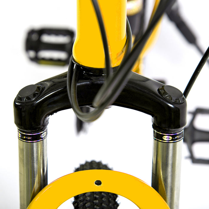 Novokart 'Wayfarer' Foldable Mountain Bike 10 Cutter Wheel, Yellow