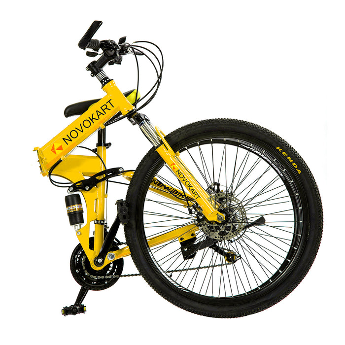 Novokart 'Wayfarer' Foldable Mountain Bike Spoke Wheel, Yellow