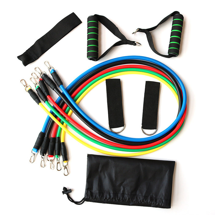 Exercise Resistance Bands Set, 11PCS Fitness Stretch Workout Bands for Men Women
