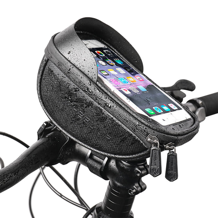 Novokart Bike Phone Handlebar Bag, Ball Pattern Black