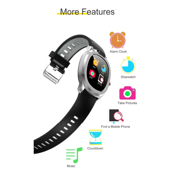 Smart Watch Fitness Trackers Touch Screen Heart Rate Monitor Sleep Monitor 1.3in Silver