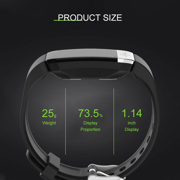 Smart Watch Fitness Trackers Touch Screen Heart Rate Monitor Sleep Monitor for iPhone Android Black