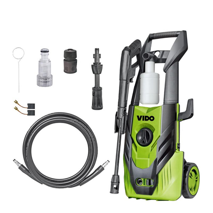Electric Pressure Washer, with Wheels, 1400W, Green