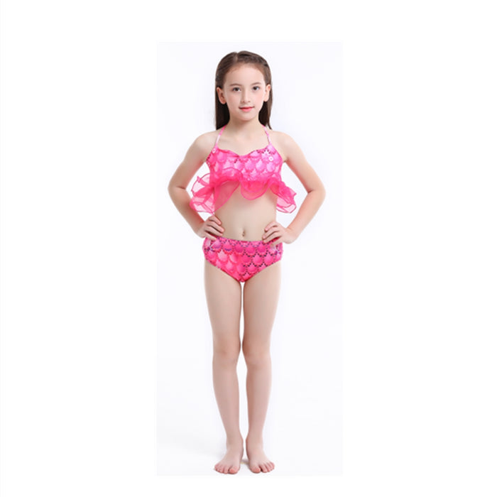 Girls Swimming with Mermaid Tail Bikini 3 Pieces Green