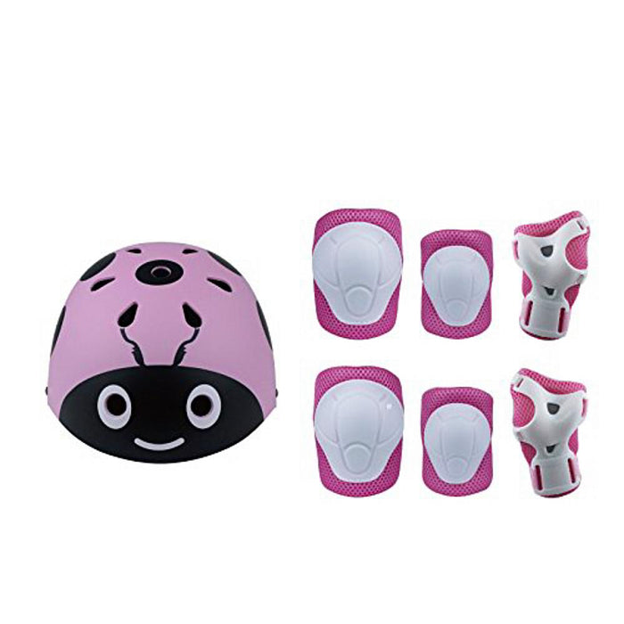 Bicycle Helmet Set Ladybug with 6 Protective Equipment