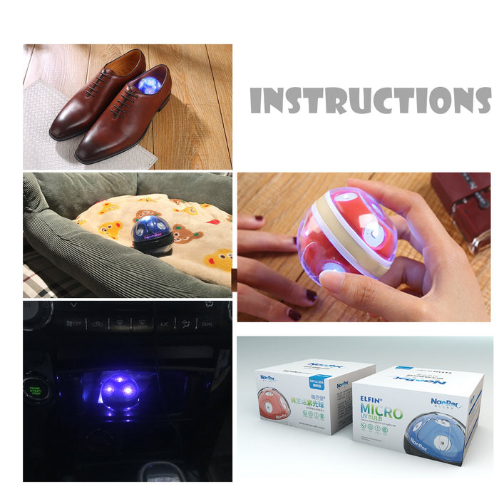 UV Disinfection Lamp UV, USB Charging, Poke Ball