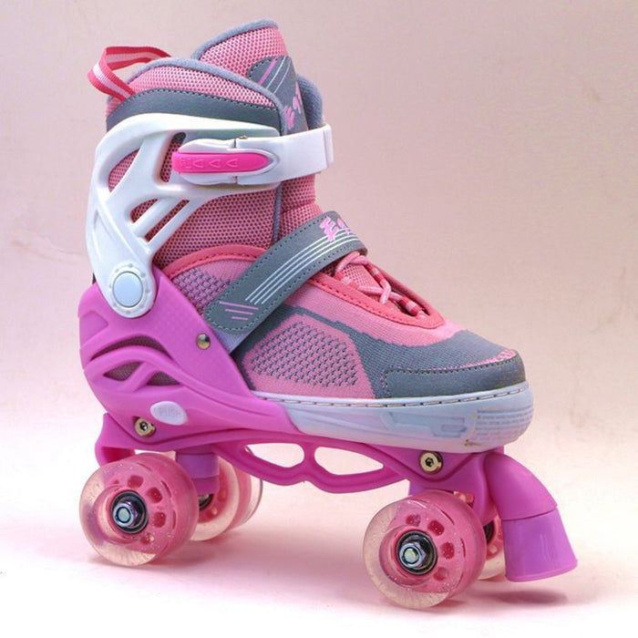 Girl's Outdoor Roller Skates Adjustable