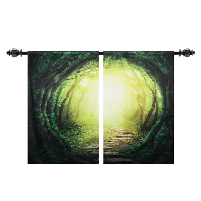 Tree Hole Blackout Thermal Rod Pocket Curtain Panels (Set of 2)