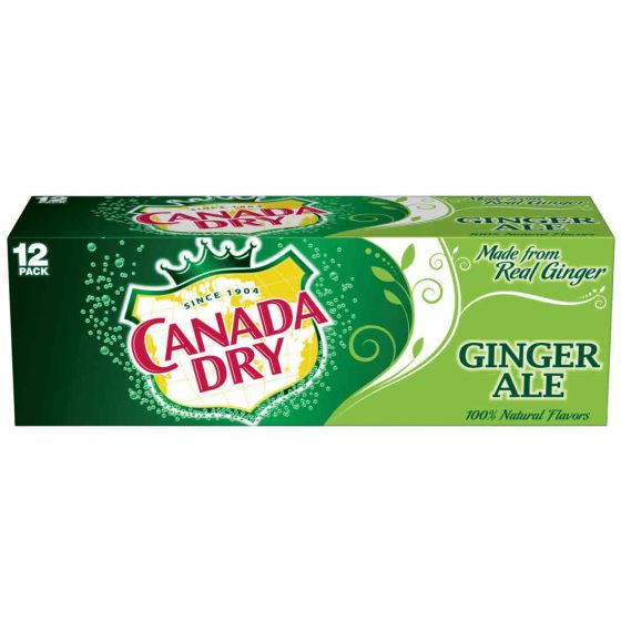 Canada Dry Ginger Ale Soda 12 pack