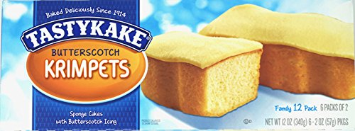 Tastykake Butterscotch Krimpets (Box of 12)
