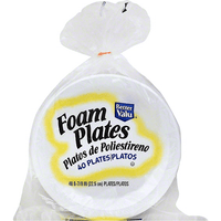Better Valu Foam Plates