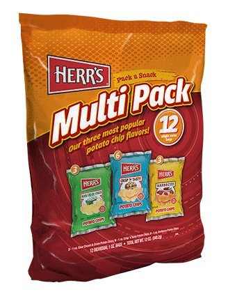 Herr's 12 bag Multi Pack Potato Chips