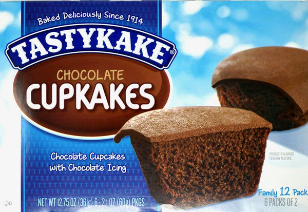 Tastykake Chocolate Cupkakes w/ Chocolate Icing (Box of 12)