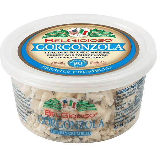 Bel Gioioso Gorgonzola Crumbled Italian Blue Cheese