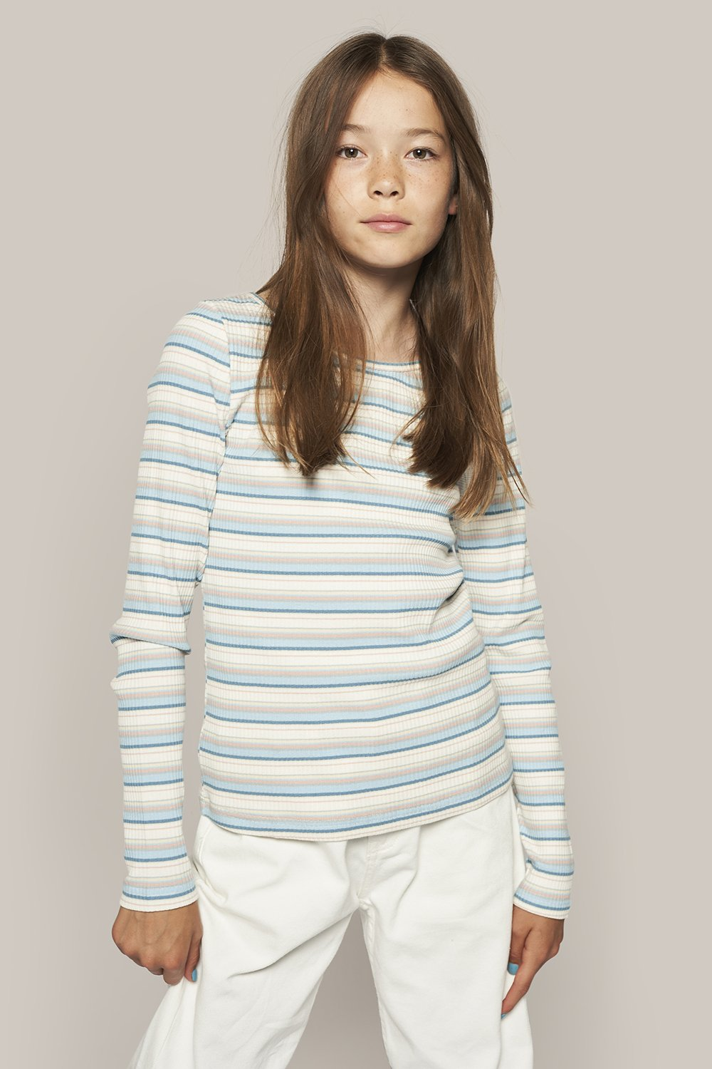 Tap Stripe Tee - Light blue - Grunt