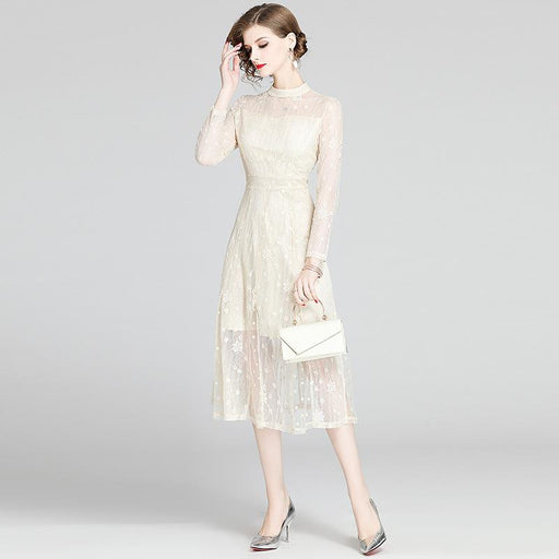 Vintage Retro Mother Of The Bride Dresses - Tea Length Elegance White Lace Country Wedding