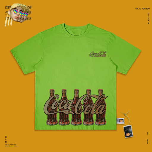 Retro T-shirt 90s Lazy Style Coca Cola