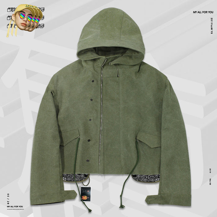 Retro Oldschool graffiti spray high street hip hop Military Coats