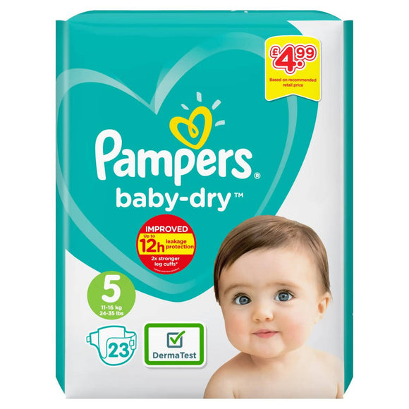 Pampers Baby-Dry Size 5 23-Pack