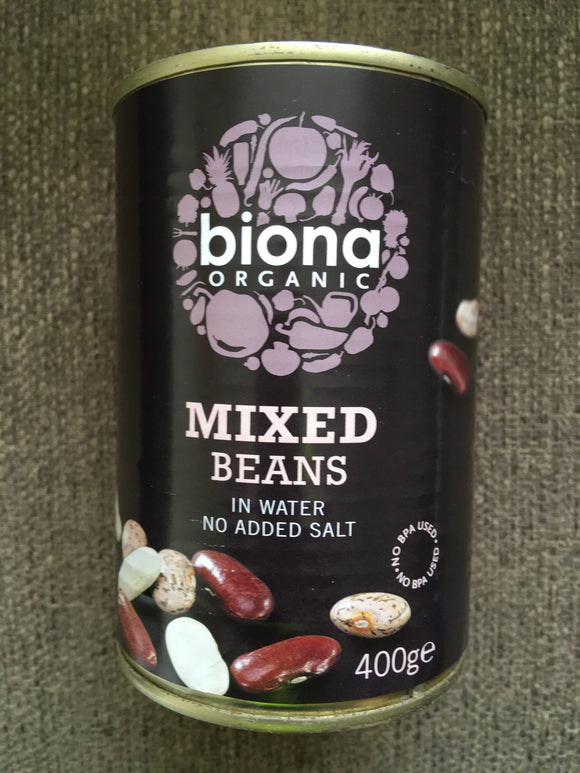 Mixed Beans. Tinned, organic from Biona 400g