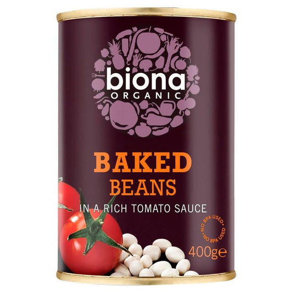 Baked Beans, Tinned Organic from Biona, 400g