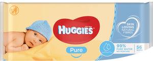 Huggies Pure Baby Wipes 56-wipes single pack