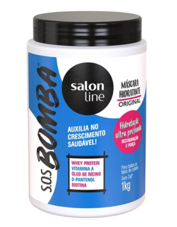 Máscara Bomba Original SOS Salon Line - 1kg / Salon Line The Bomb SOS Hair Mask - 1kg