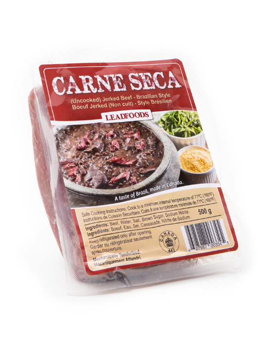 Carne Seca (Charque) - 500g / Dry Beef 500g - Vacuum Sealed - LeadFoods