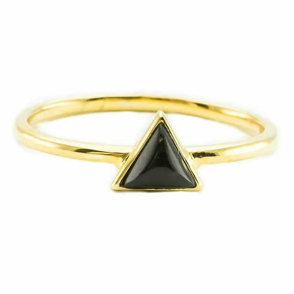 Mini Triangle | Gold | Black