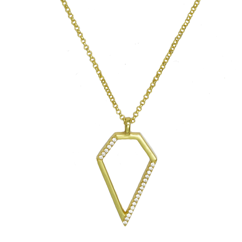 Diamond Pendant | Gold