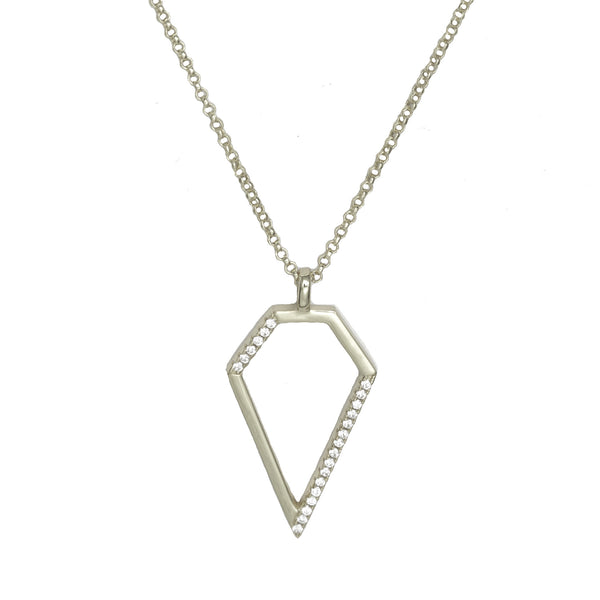 Diamond Pendant | Silver