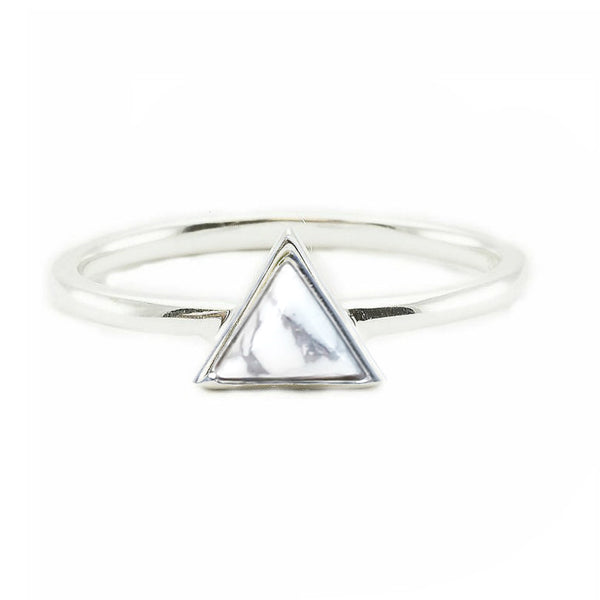 Mini Triangle | White | Silver