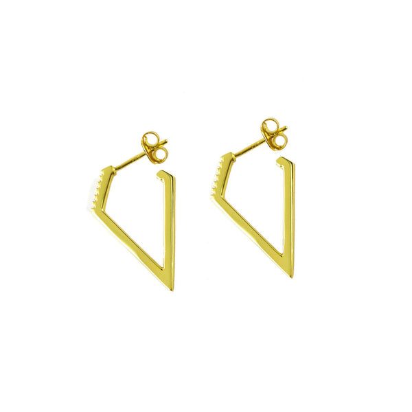 Diamond Hoops | Gold