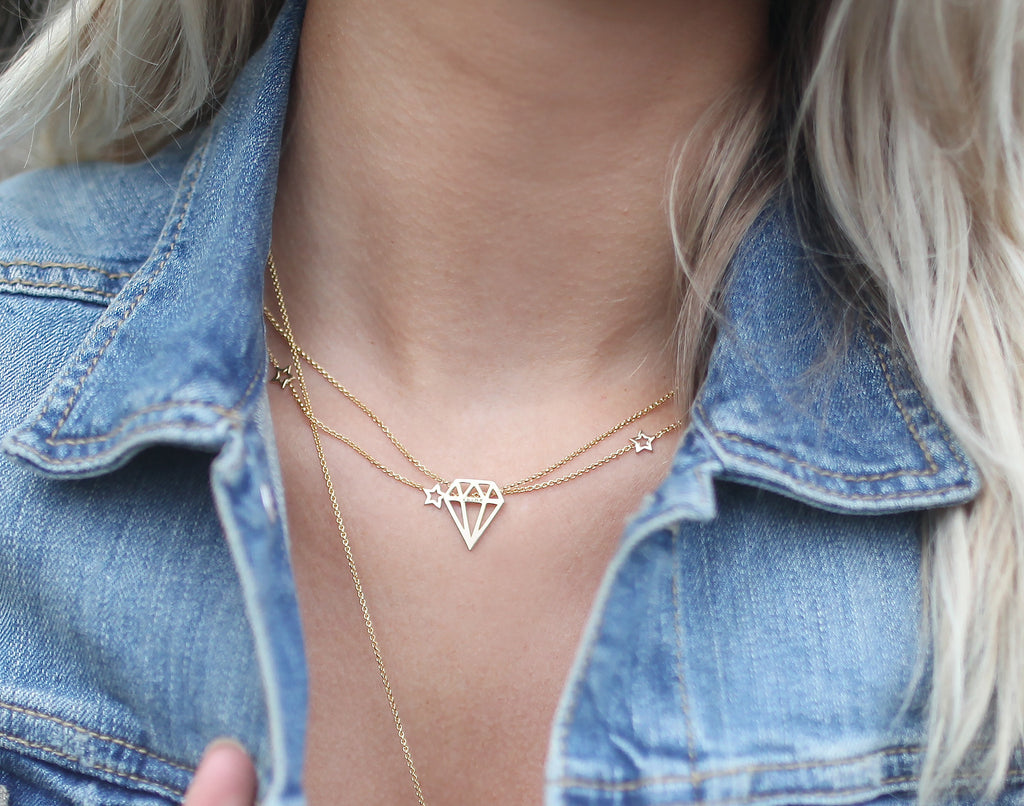 Mini Star Necklace | Gold