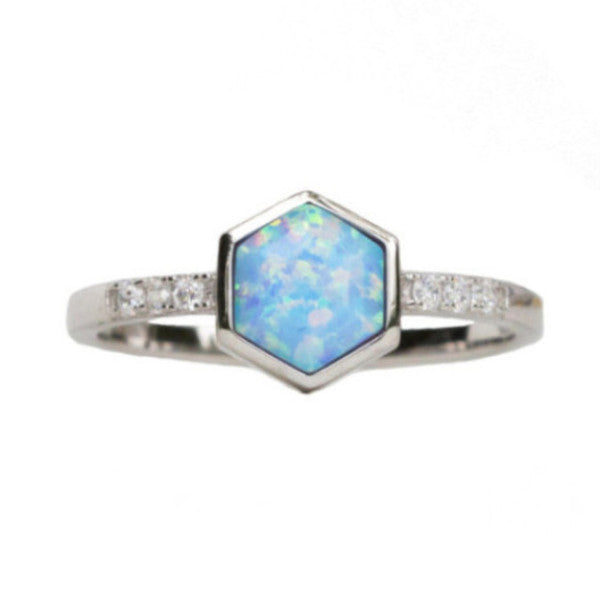 Hexagon | Light Blue | Silver
