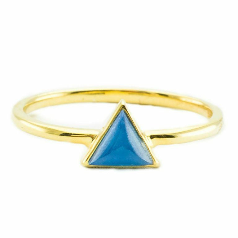 Mini Triangle | Gold | Cobalt